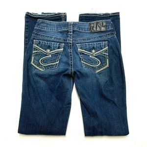 Silver Jeans Suki Mid Slim Boot Cut Fluid Denim